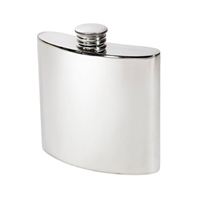 Kidney Shaped 4oz Pewter Hip Flask with Screw Cap by Wentworth of Sheffield