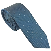 Blue Iridescent Spot Silk Tie by Peckham Rye