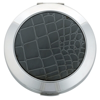 Powder Compact, Metallic Lizard Effect with Powder Puff and Mirror