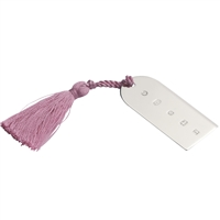 Sterling Silver Bookmark with Pink Tassel. Church Window Style.