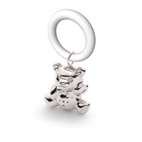 Sterling Silver Teddy Bear Teething Ring