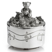 Pewter Friends Musical Carousel in Wooden Gift Case by Royal Selangor