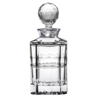 Coronet Crystal Whisky Decanter with Sterling Silver Collar by Royal Scot Crystal