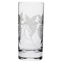 Vine Tall Crystal Tumbler by Royal Scot Crystal