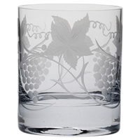 Vine Crystal Large Whisky Tumbler by Royal Scot Crystal