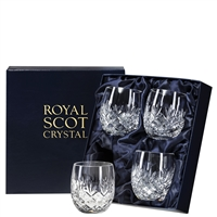 Four Boxed Edinburgh Whisky Tumblers by Royal Scot Crystal