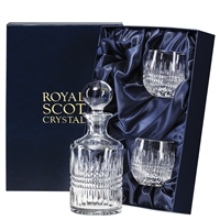 Iona Design Single Malt Whisky Decanter and Glass Set by Royal Scot Crystal