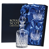 London Design Whisky Decanter and Tumbler Set by Royal Scot Crystal