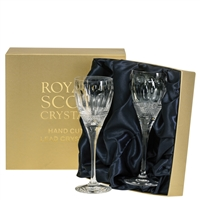 Pair Belgravia Lead Crystal Port or Sherry Glasses by Royal Scot Crystal