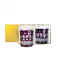 Pair Belgravia Amethyst Whisky Tumblers by Royal Scot Crystal