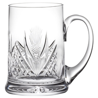 Crystal Scottish Thistle Pint Tankard by Royal Scot Crystal