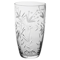 Crystal Marlborough Design Medium Barrel Vase by Royal Scot Crystal
