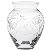 Crystal Dragonfly Design Large Posy Vase by Royal Scot Crystal