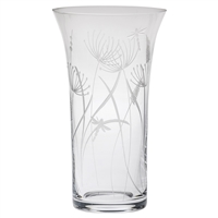 Crystal Dragonfly Design Large Flared Vase by Royal Scot Crystal