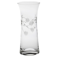 Crystal Daisy Design Large Lily Vase by Royal Scot Crystal