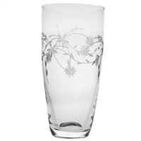 Crystal Daisy Design Tall Flower Vase by Royal Scot Crystal