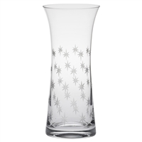 Crystal Starburst Design Large Lily Vase by Royal Scot Crystal