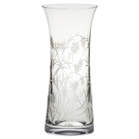 Crystal Meadow Flowers Design Large Lily Vase by Royal Scot Crystal
