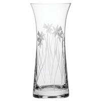 Crystal Daffodils Design Large Lily Vase by Royal Scot Crystal
