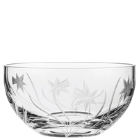 Crystal Daffodils Design Large Fruit or Salad Bowl by Royal Scot Crystal