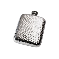 4oz English Pewter Hip Flask with Hammered Finish