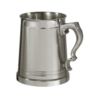 The Lanark Fine English Pewter Pint Tankard with Wooden Presentation Case