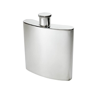 Large Kidney Shaped 26oz Plain Pewter Hip Flask by Wentworth of Sheffield