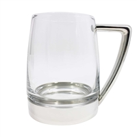 One Pint Glass and Fine Pewter Modern Design Tankard by Royal Selangor