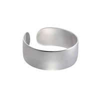 Sterling Silver Plain Cuff Bangle by Comyns of London