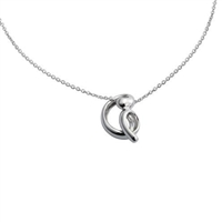 Sterling Silver 'Ventus' Design Pendant and Chain by Comyns