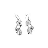 Sterling Silver 'Pebbles' Drop Earrings by Comyns of London