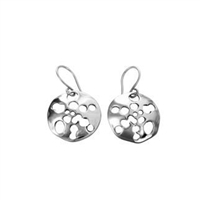 Sterling Silver 'Sea Urchin' Drop Earrings by Comyns of London