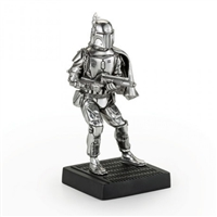 Star Wars Boba Fett Pewter Figurine on Plinth by Royal Selangor