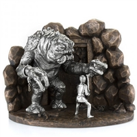 Star Wars Limited Edition Luke vs. Rancor Pewter Diorama by Royal Selangor