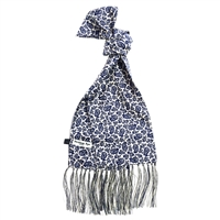 Silk Navy Blue Monochrome Kestrels Nest Pattern Scarf by Peckham Rye