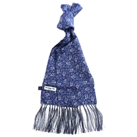 Silk Blue Kestrels Nest Pattern Scarf by Peckham Rye