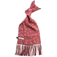 Silk Red Kestrels Nest Pattern Scarf by Peckham Rye