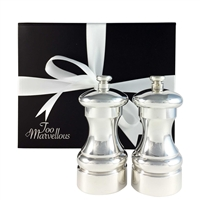 Sterling Silver Plated Salt & Pepper Grinders. Very Heavy Restaurant and Hotel Ware
