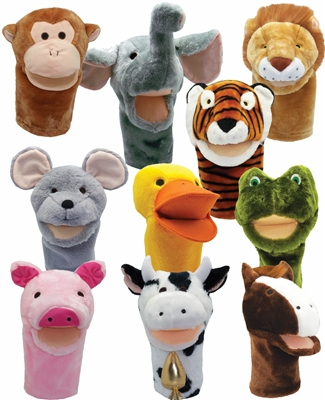 Get Ready Kids bigmouth animal puppets