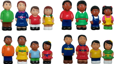 Get Ready Kids 5 inch multicultural family figures