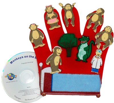Get Ready Kids Monkeys on the Bed glove puppet