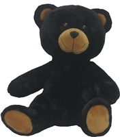 stuffable black teddy bear