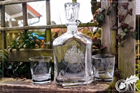 Etched Cathedral Decanter