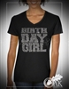 Birthday Girl Oversized Rhinestone Tshirt