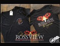 Rossview Hawks Short V-Neck Tee for ladies