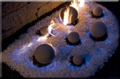 Looking to make blue flames in your fireplace? Moderustic black magic sand makes your indoor natural gas fireplace flames turn blue.