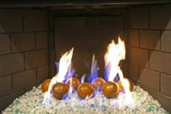 4 inchlight Brown porcelain coated Fire balls
