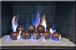 4 inch Light Brown porcelain coated Fire balls