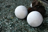 White decorative lawn art balls