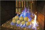 4 inch Powder Green porcelain coated Fire balls